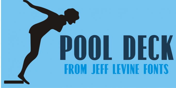 Pool Deck JNL font preview