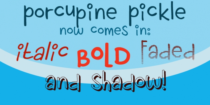 Porcupine Pickle font preview