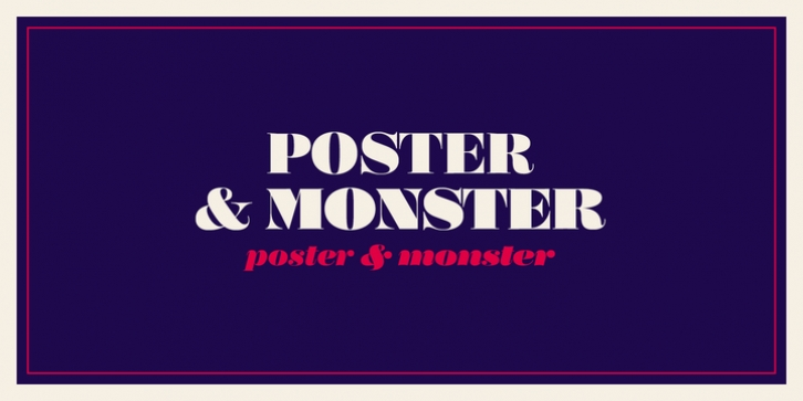 Poster font preview