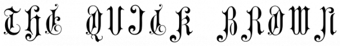 Gothic Initials Four Font Preview