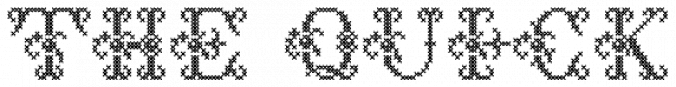 Cross Stitch Delicate font download