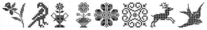 Cross Stitch Ornaments font download
