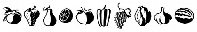 Veggie Fruit Font Preview