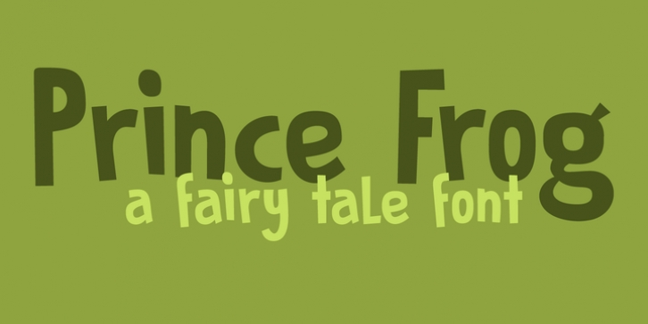 Prince Frog font preview