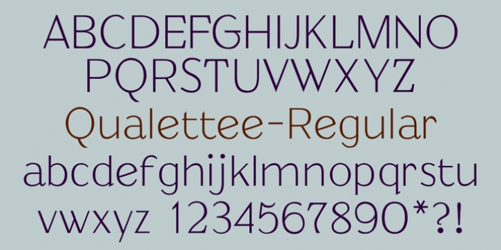 Qualettee font preview