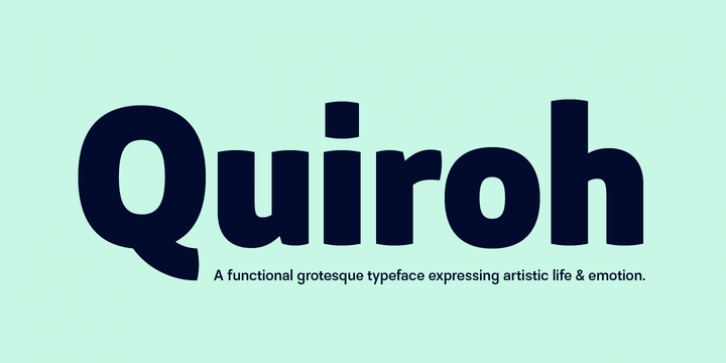 Quiroh font preview