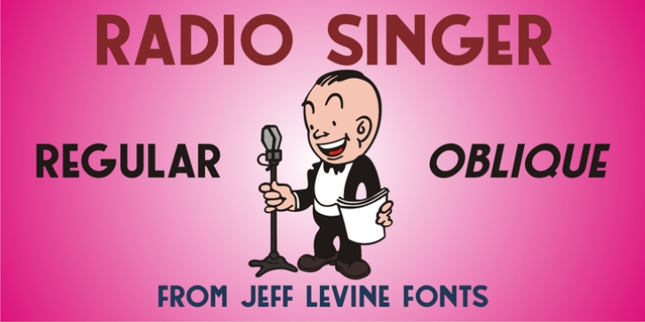 Radio Singer JNL font preview