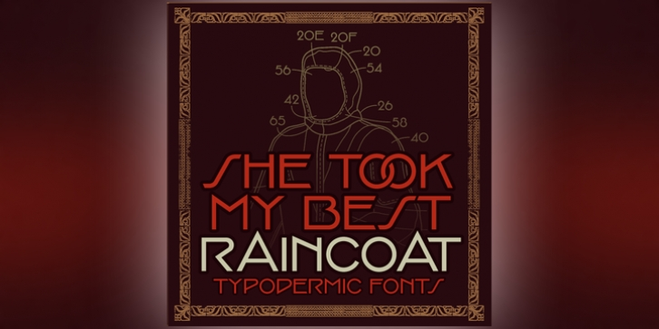 Raincoat font preview