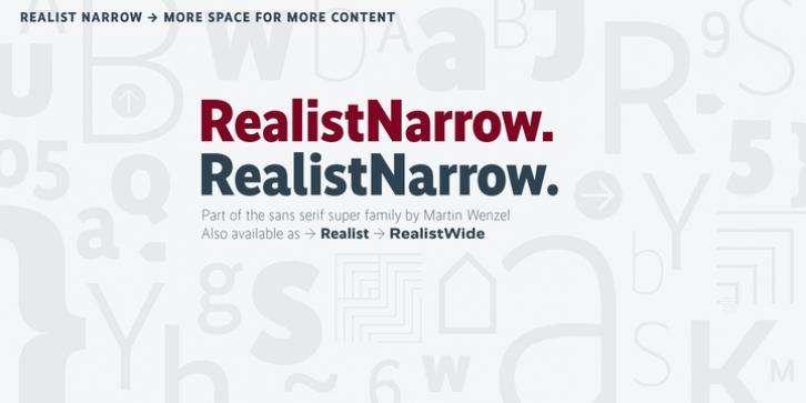 Realist Narrow font preview