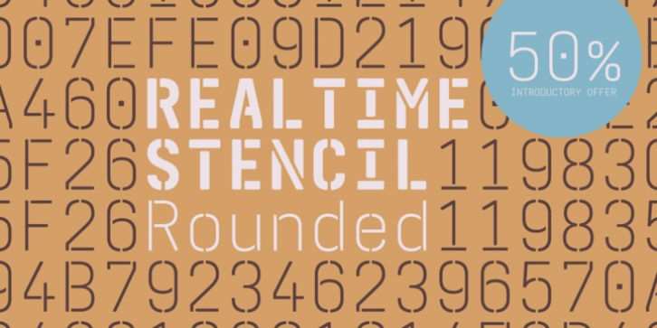 Realtime Stencil Rounded font preview