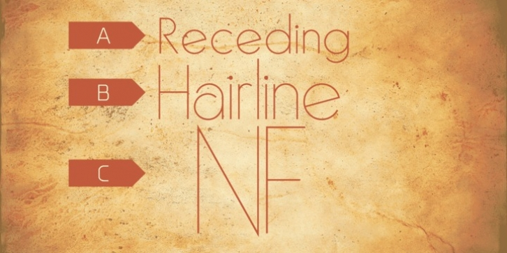 Receding Hairline NF font preview