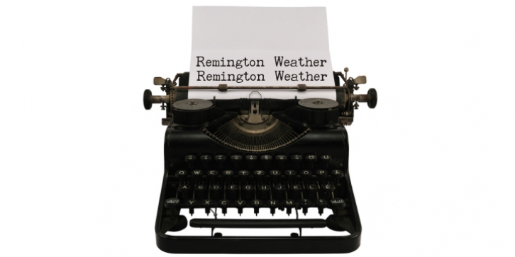 Remington Weather font preview