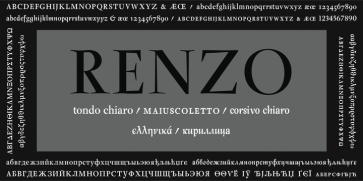Renzo font preview