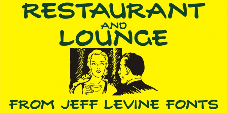 Restaurant And Lounge JNL font preview