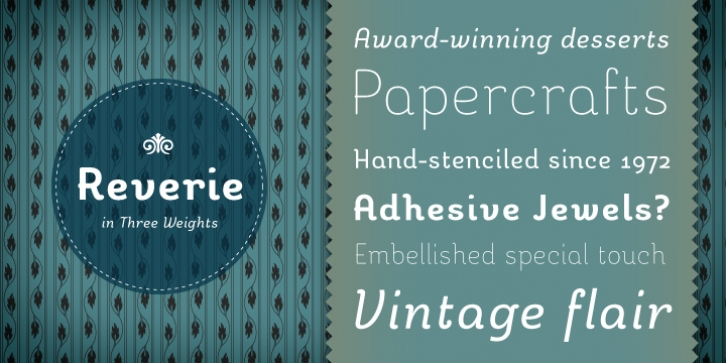 Reverie font preview