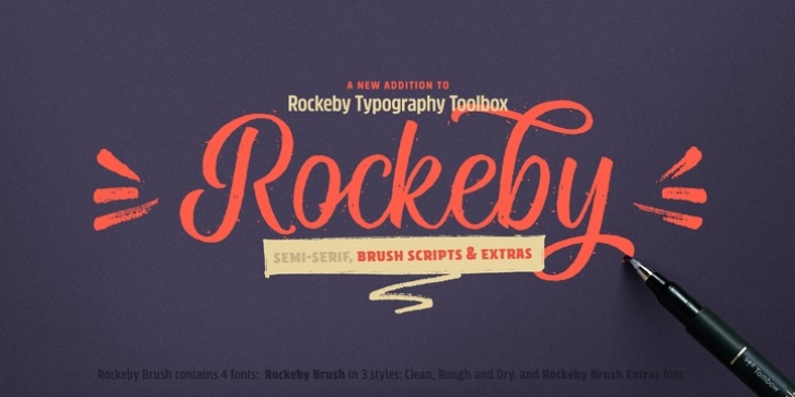 Rockeby Brush font preview