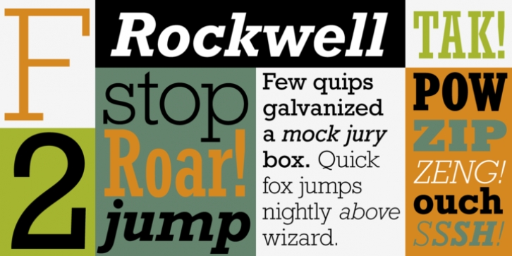 Rockwell font preview