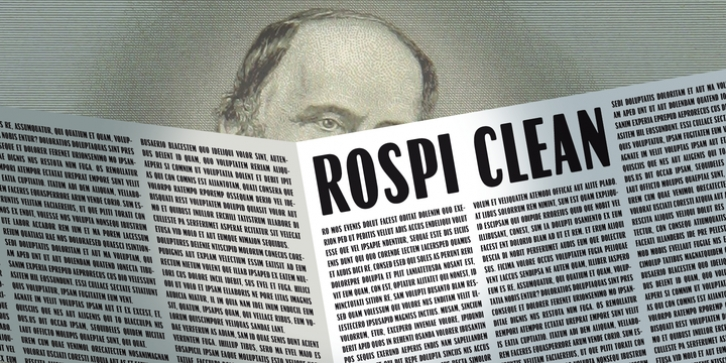 Rospi Clean and Retro font preview