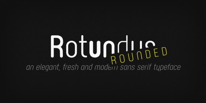 Rotundus Rounded font preview