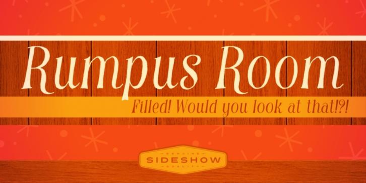 Rumpus Room Filled Font Download