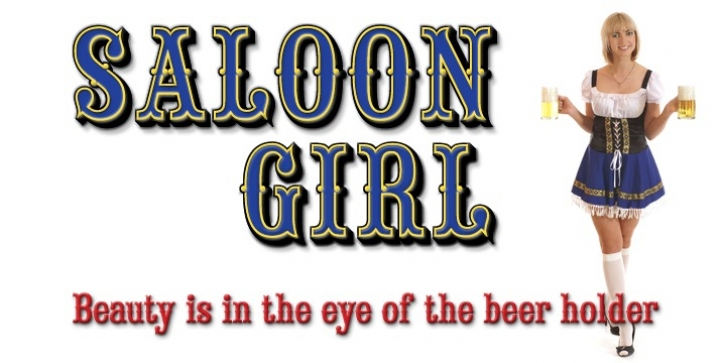 Saloon Girl font preview