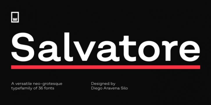 Salvatore font preview