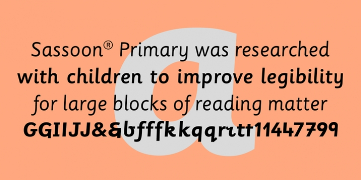 Sassoon Primary font preview