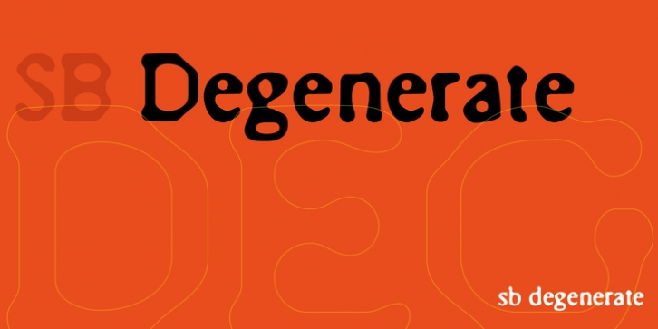 SB Degenerate font preview