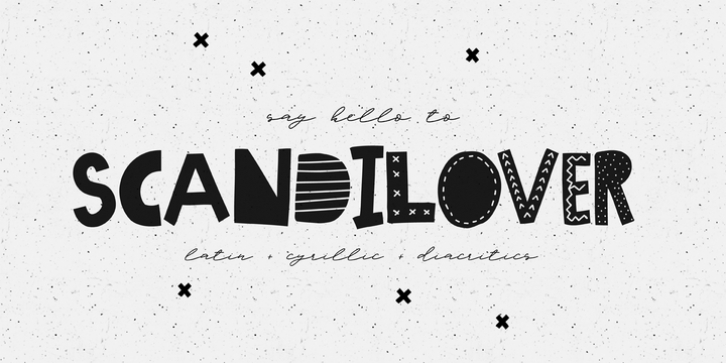 Scandilover font preview