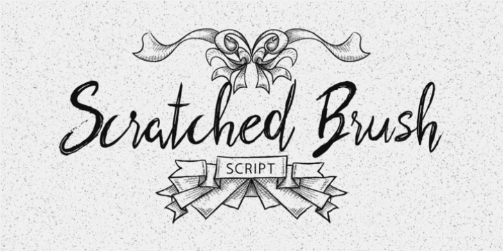 Scratched Brush Script font preview