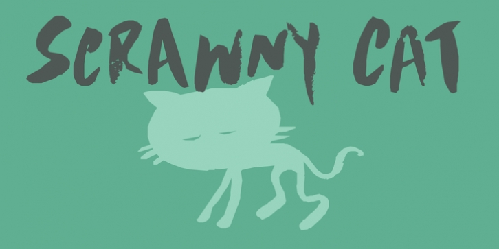 Scrawny Cat font preview