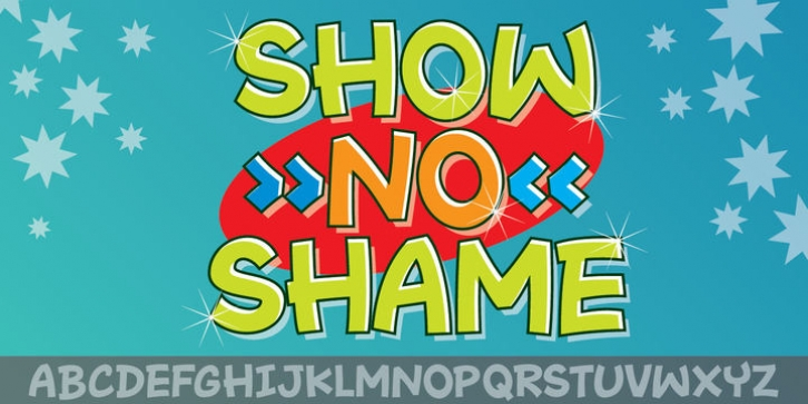 Show No Shame font preview
