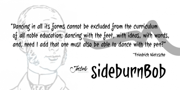 sideburnBob font preview