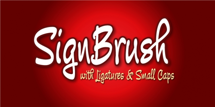 Sign Brush font preview