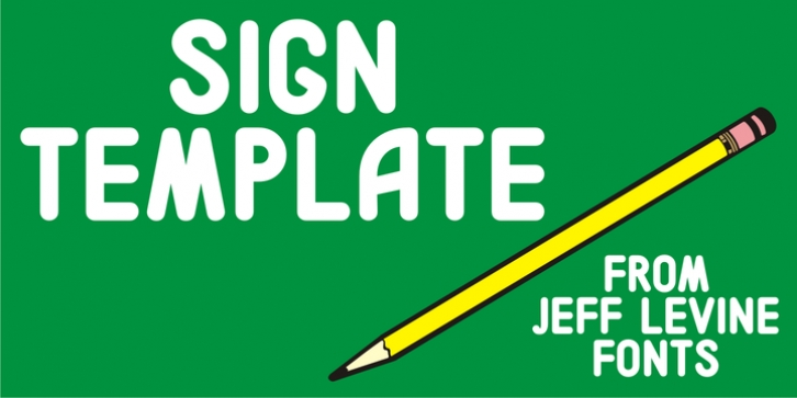 Sign Template JNL font preview