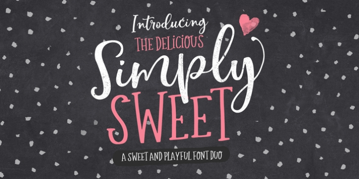 Simply Sweet font preview