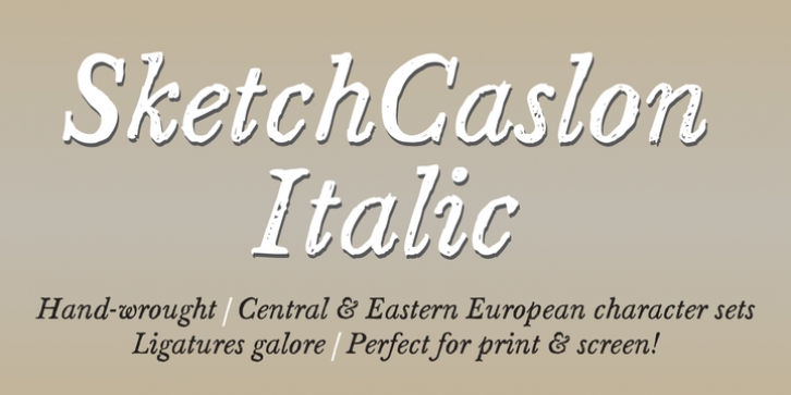 Sketch Caslon Italic font preview