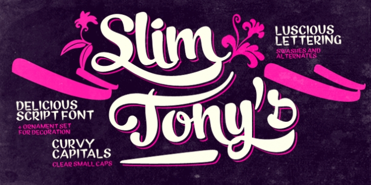 Slim Tony font preview