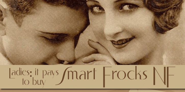 Smart Frocks NF font preview