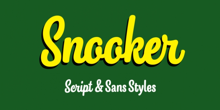 Snooker font preview