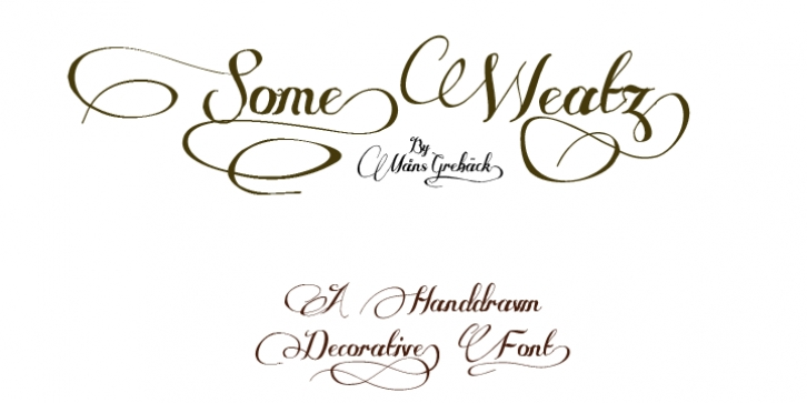 Some Weatz font preview