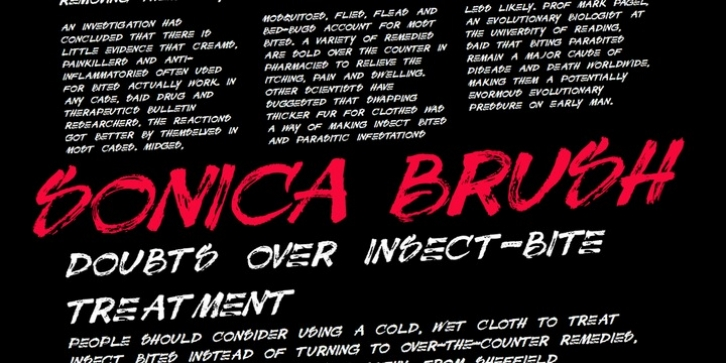 Sonica Brush font preview