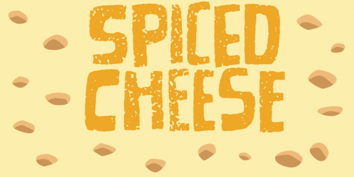 Spiced Cheese font preview