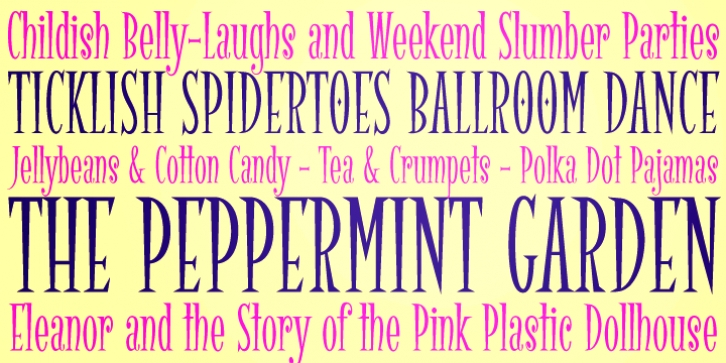 Spidertoes PB font preview