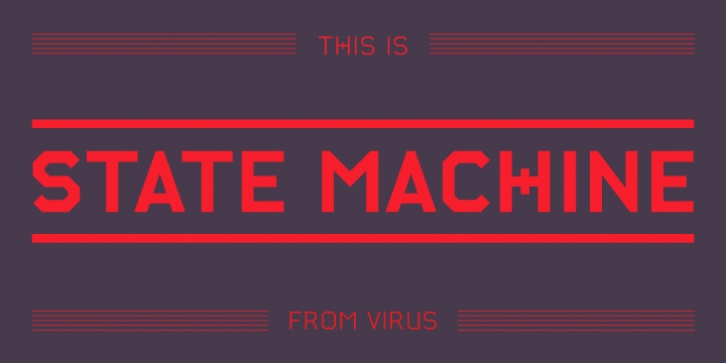 State Machine font preview