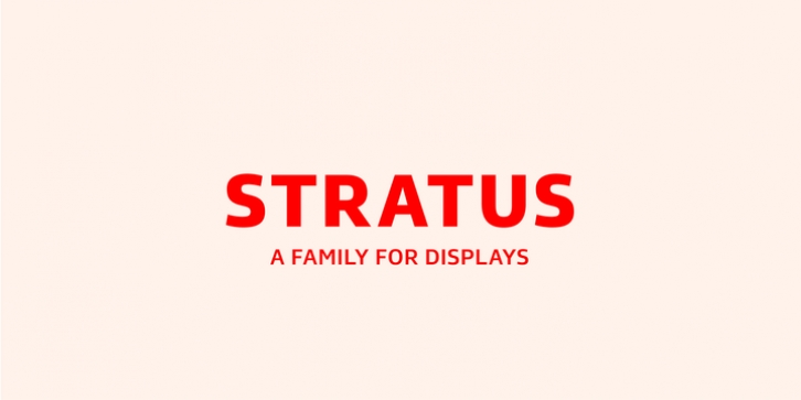 Stratus font preview