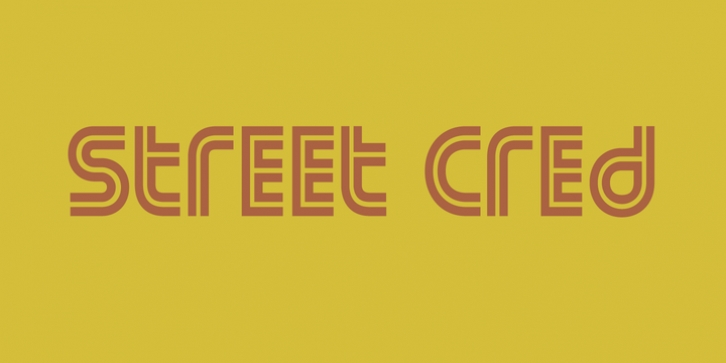 Street Cred font preview