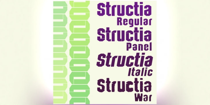 Structia font preview