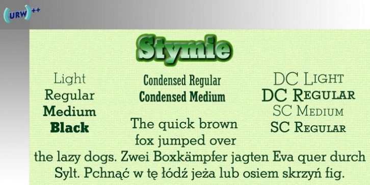 Stymie font preview