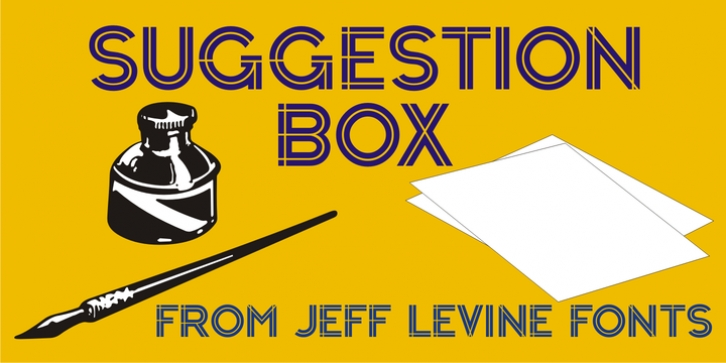 Suggestion Box JNL font preview